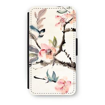 iPhone X Flip Case - Japenese flowers