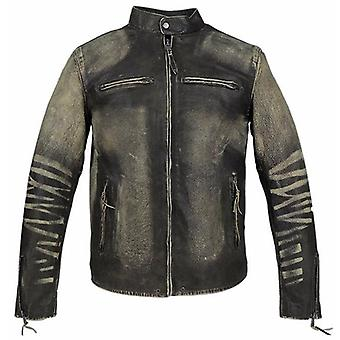 Men's High Fashion Two-tone Leather Jacket (limited)
