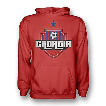 Bambini Croazia paese Logo Hoody (rosso)-