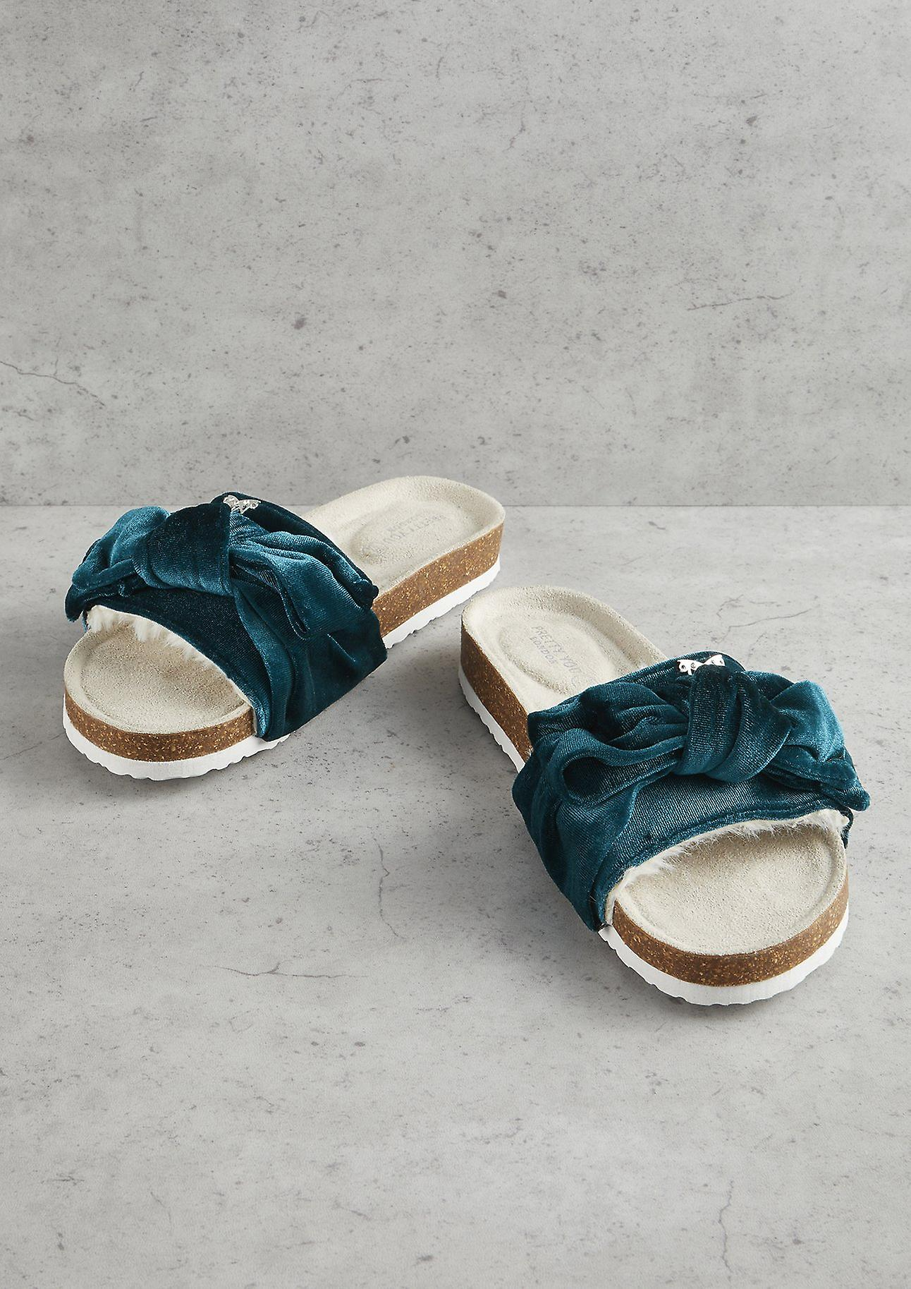 Emerald Footbed Bow Velour Bow Velour Emerald Footbed Velour Bow Emerald Footbed Velour Emerald wZXSU