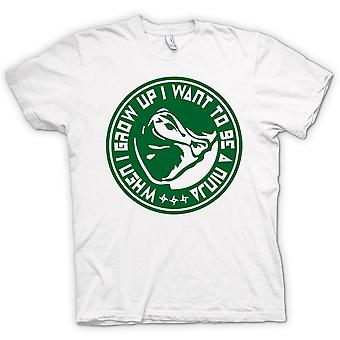 Womens T-shirt - I Wanna Be A Ninja - Funny