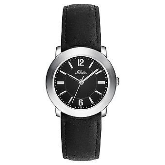 s.Oliver kvinnors watch armbandsur läder SO-3389-LQ
