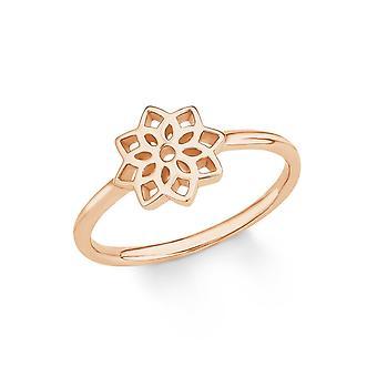 s.Oliver Jewel Damen Ring Silber rosé SO PURE Blume 201984