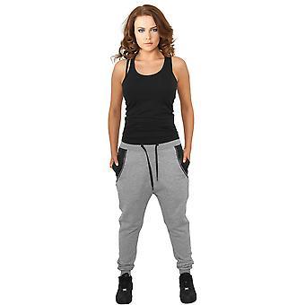 Urban Classics Ladies Sweatpants Side Zip Leather Pocket