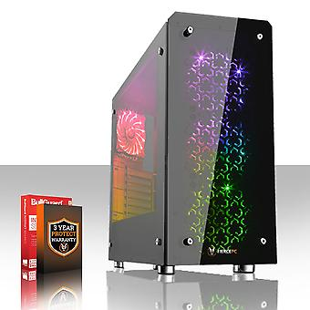 Fierce EXILE Gaming PC, Fast AMD FX-8300 4.2GHz, 1TB HDD, 8GB RAM, GTX 1050 Ti 4GB