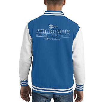 Phil Dunphy Immobilien schließen immer moderne Familie Kid Varsity Jacket