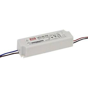 Mean Well LPC-20-700 LED driver Constant current 21 W 0.7 A 9 - 30 Vdc not dimmable, Surge protection