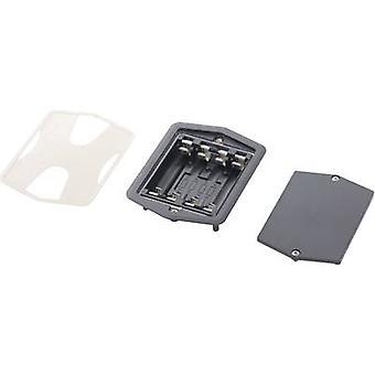 Bopla 58419005 Battery tray 4x AA Solder lug (L x W x H) 105 x 79 x 22 mm