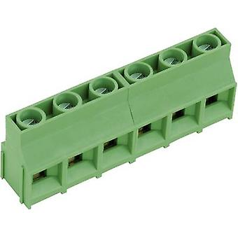 PTR AKZ841/10-9.52-V Screw terminal 4.00 mm² Number of pins 10 Green 1 pc(s)