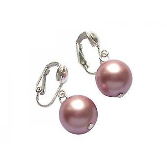 Ohrclips Perlen tahiti rosé 925 Silber MARLENE Perlen Ohrclips
