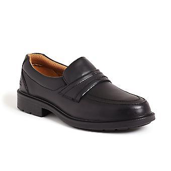 Sterling Black Safety Slip On Shoe. Steel Toe & Composite Midsole  –  SS503CM