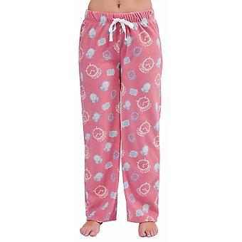 Womens Sleepy Print Fleece Winter Pyjama Trouser Bottoms Lounge Wear Pants