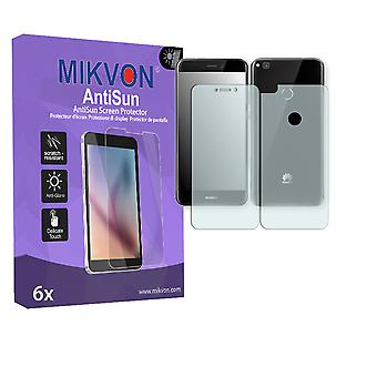Huawei P8 Lite (2017) Screen Protector - Mikvon AntiSun (Retail Package with accessories) (1x FRONT / 1x BACK) (reduced foil)
