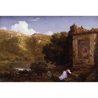 Il Penseroso, Thomas Cole, 40x60cm with tray