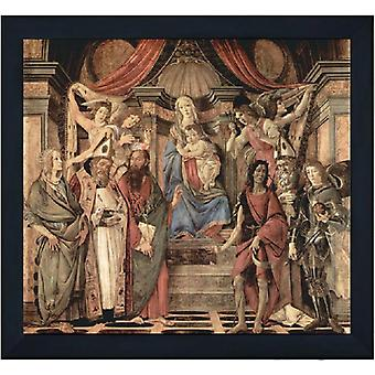 With ram St Barnabas Altarpiece, Sandro Botticelli, 60x50cm