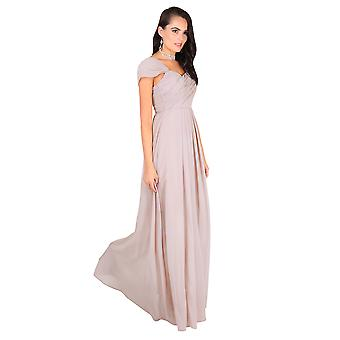 KRISP Frauen Diamante Fitted Long Fishtail Party Bridesmaid Wedding Maxi Prom Dress