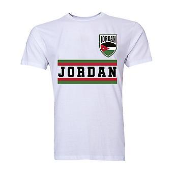 Core de Jordanie de Football pays T-Shirt (White)