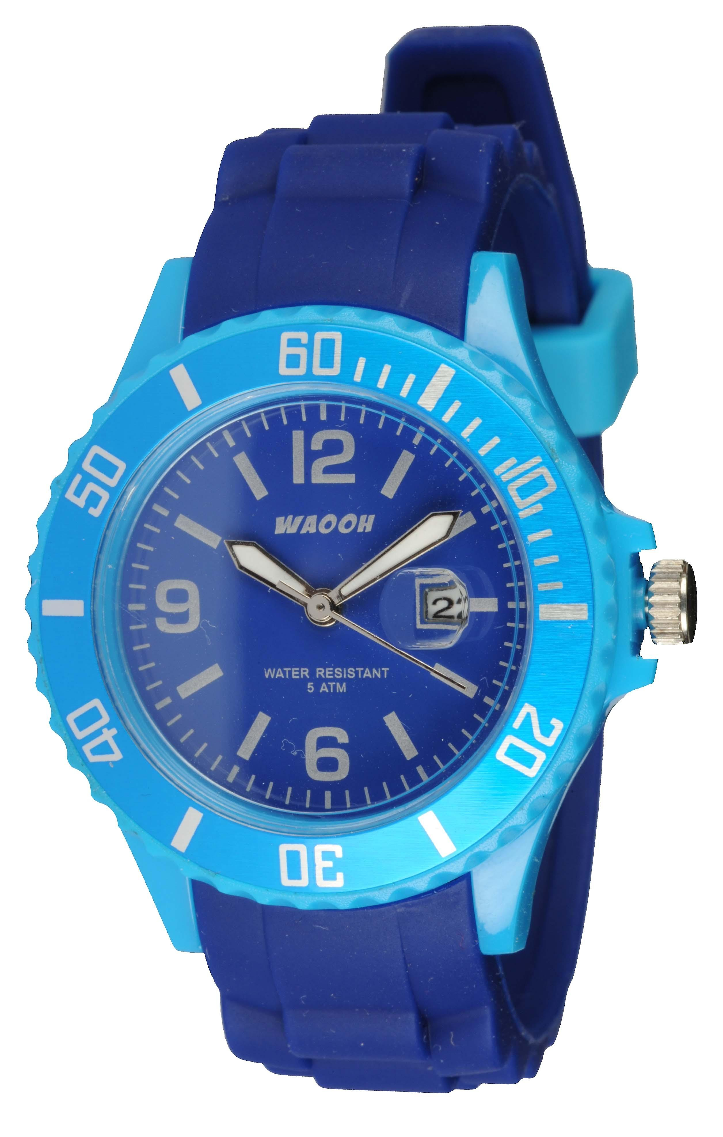 Waooh - Watch Monaco38 - bicolor & turquoise