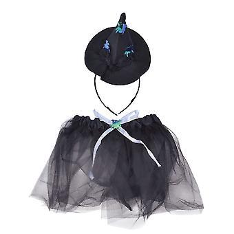 Witch TuTu. Black/Silver + Headband