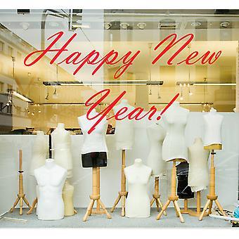 Happy New Year Wall Sticker