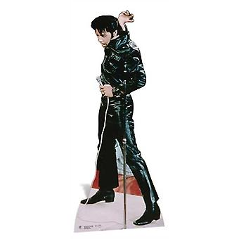 Elvis Wearing Black Leather Lifesize Cardboard Cutout / Standee