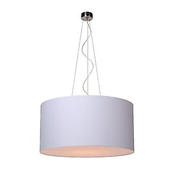 Lucide Coral Cottage Round Cotton White Pendant Light