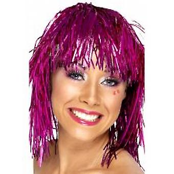 Cyber Tinsel Wigs Pink