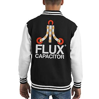 Back To The Future Flux Capacitor Kid's Varsity Jacket
