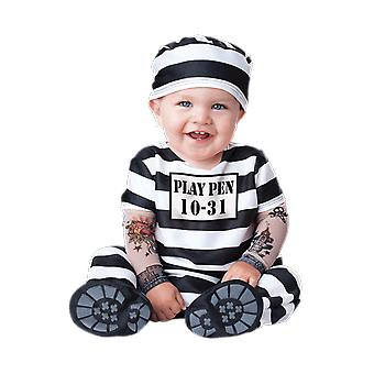 Kids Baby Toddler Time Out Prisoner Convict Halloween Fancy Dress Costume