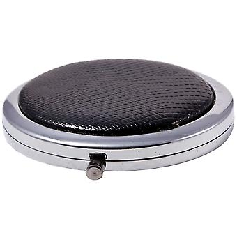 Compact Round Make-Up Mirror Black