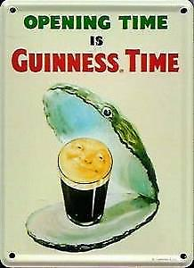 Guinness Oyster metal postcard / mini sign    (hi)