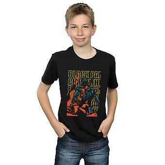 Marvel Boys Avengers Black Panther Collage T-Shirt