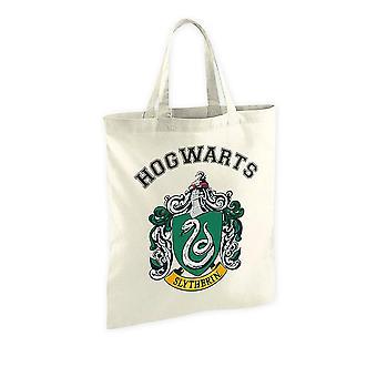 Harry Potter Stofftasche Slytherin Wappen cremefarben, bedruckt, aus 100 % Baumwolle.