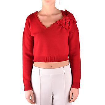 Red Valentino Burgundy Wool Sweater