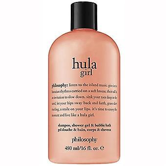 Filosofie Hula Girl Shampoo, douchegel, & Bubble Bad 16oz / 480ml