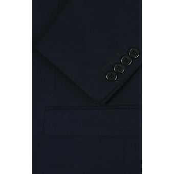 Dobell Mens Navy Suit Jacket Slim Fit Travel/Performance Notch Lapel