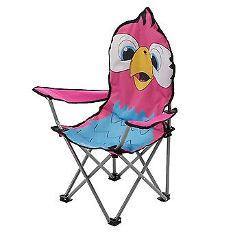 Regatta Animal Kids Folding Camping Chair Parrot Pink