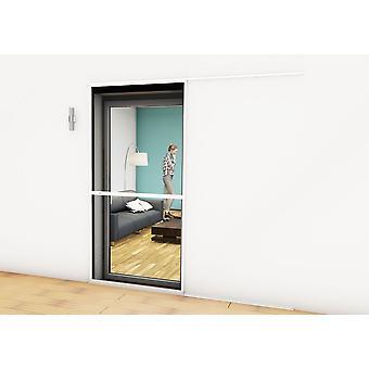 Schiebe-Tür Fliegengitter Türbausatz Insekten-schutz 120 x 240 cm in weiss