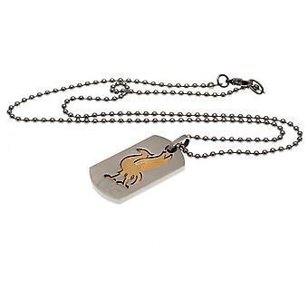 Liverpool FC Bi Colour Cut Out Dog Tag And Chain