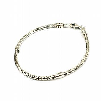 Toc Beadz Sterling Silver 7.5 Inch Bracelet For Slide-On Beads