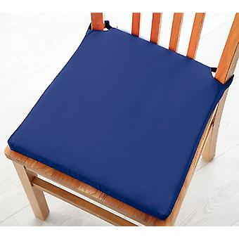 Pack of 2 Cotton Twill Dining Chair Seat Pad Cushion - Blue