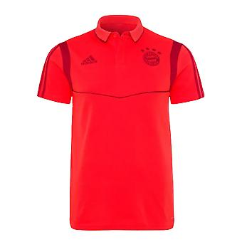 2019-2020 Bayern Munich Adidas Polo camiseta de algodón (rojo)