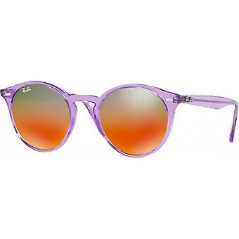 Ray - Ban RB2180 Large Violet gloss mirrored brown red gradient silver