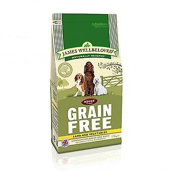 James Wellbeloved Adult Grain Free Lamb Vegetables Dry Dog Food 1.5kg