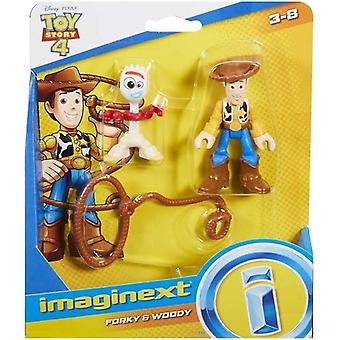 Toy Story 4 Figurer - Forky och Woody