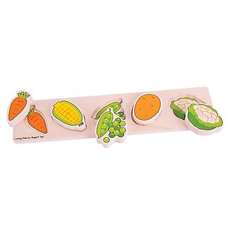 Bigjigs Toys Chunky Lift and Match Vegetable Puzzle Educational Jigsaw