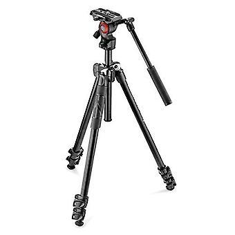 Manfrotto kit 290 stativ + video hoved mvh400ah min højde 425mm max 1,460 mm aluminium Max 4kg