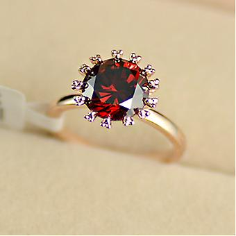 18K Rose Gold Plated 2.75ct Ruby Solitaire Ring