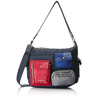 Desigual Bols_magic Memphis - Blue Women's Shoulder Bags (Navy) 14x26.3x32 cm (B x H T)