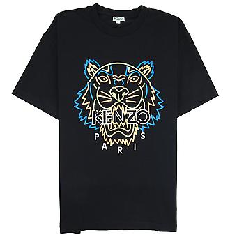 Kenzo neon Tiger T-shirt sort